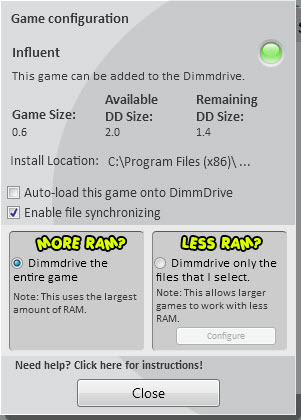 1 full Dimmdrive Steam platform RAM Drive launches to speed up gaming