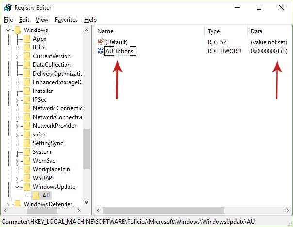 how to delete windows update registry