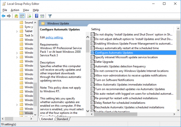 The best: configuration options for updating windows 7
