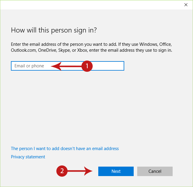 how to stop users from using email address