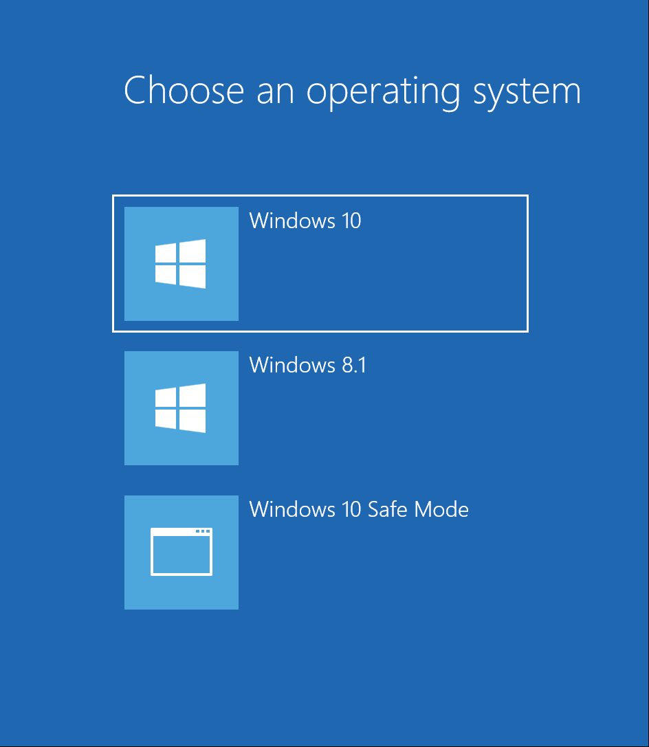 How to bring back the old choose an operating system