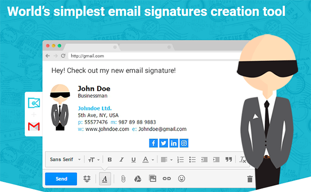 can i create a pdf signature on gmail