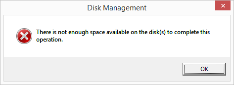 8 full How to shrink a disk volume beyond the point where any unmovable files are located