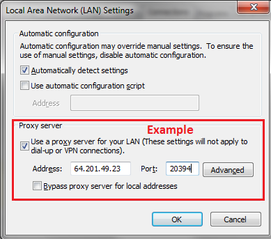 Change proxy server settings in Internet Explorer - Windows Help
