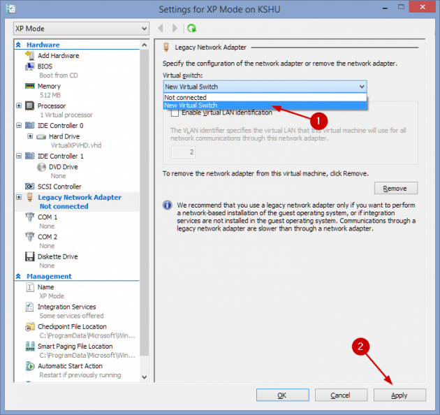 15 large How to add an XP Mode Virtual Machine to Windows 10 or 8 using HyperV