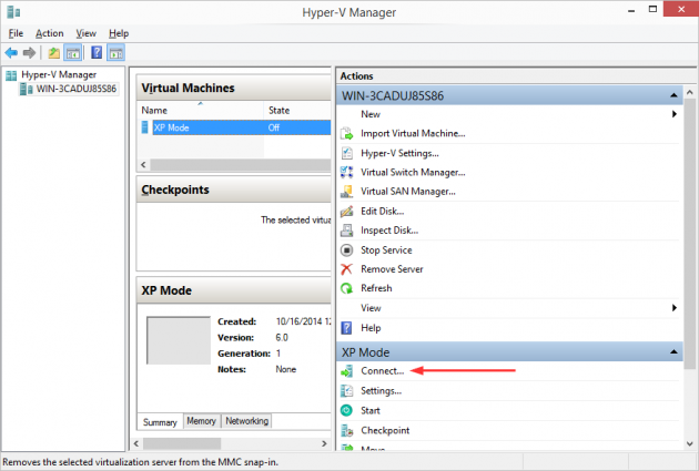 8 large How to add an XP Mode Virtual Machine to Windows 10 or 8 using HyperV