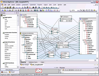 Altova mapforce 2012 , graphical data mapping tool for transforming on