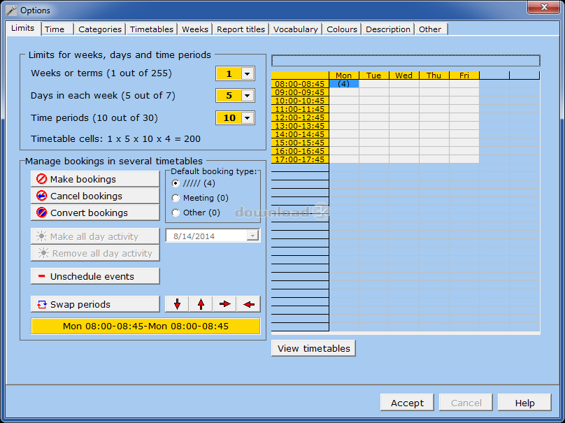 Mimosa scheduling software free edition 5.2.6