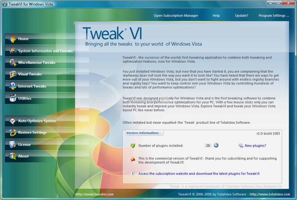 Программа разработана создателями популярной программы Tweak-XP Pro