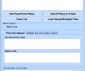 MS PowerPoint Find and Replace In Multiple Presentations Software Screenshot 0