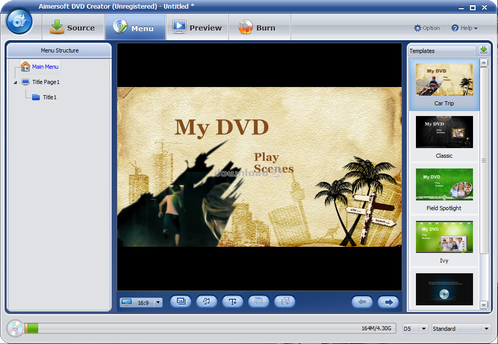 Wondershare DVD Creator 3.3.0.9 + RUS & Menu Templates Packs , картинка