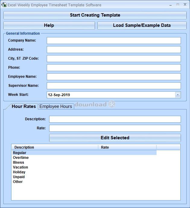 download excel weekly employee timesheet template software