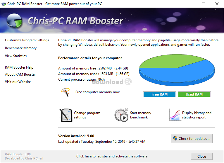 Upgrade your ram with a usb memory stick