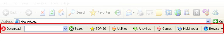 Search for software downloads with this Internet Explorer toolbar.