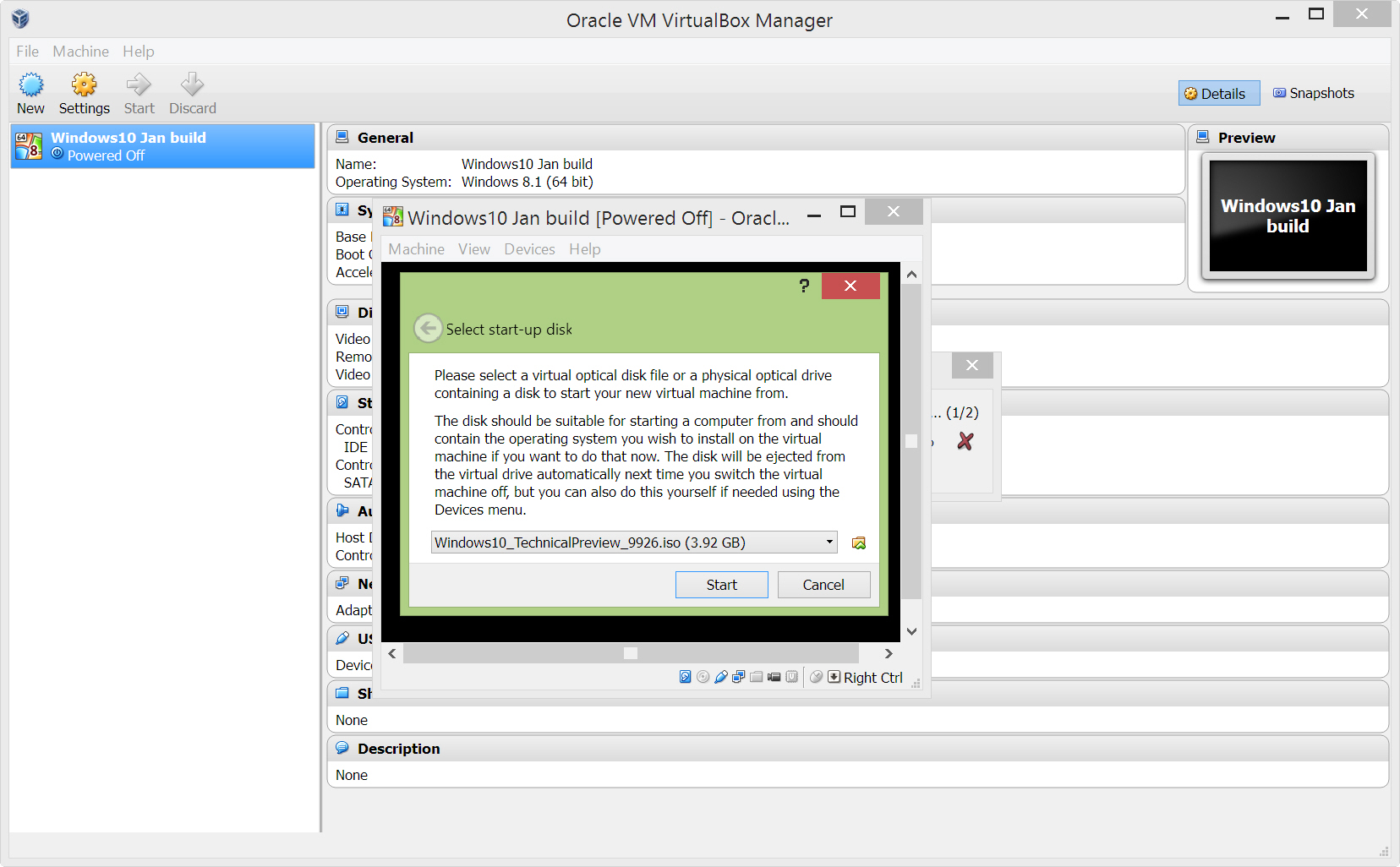 How to install Windows 10 Technical Preview on Oracle VirtualBox