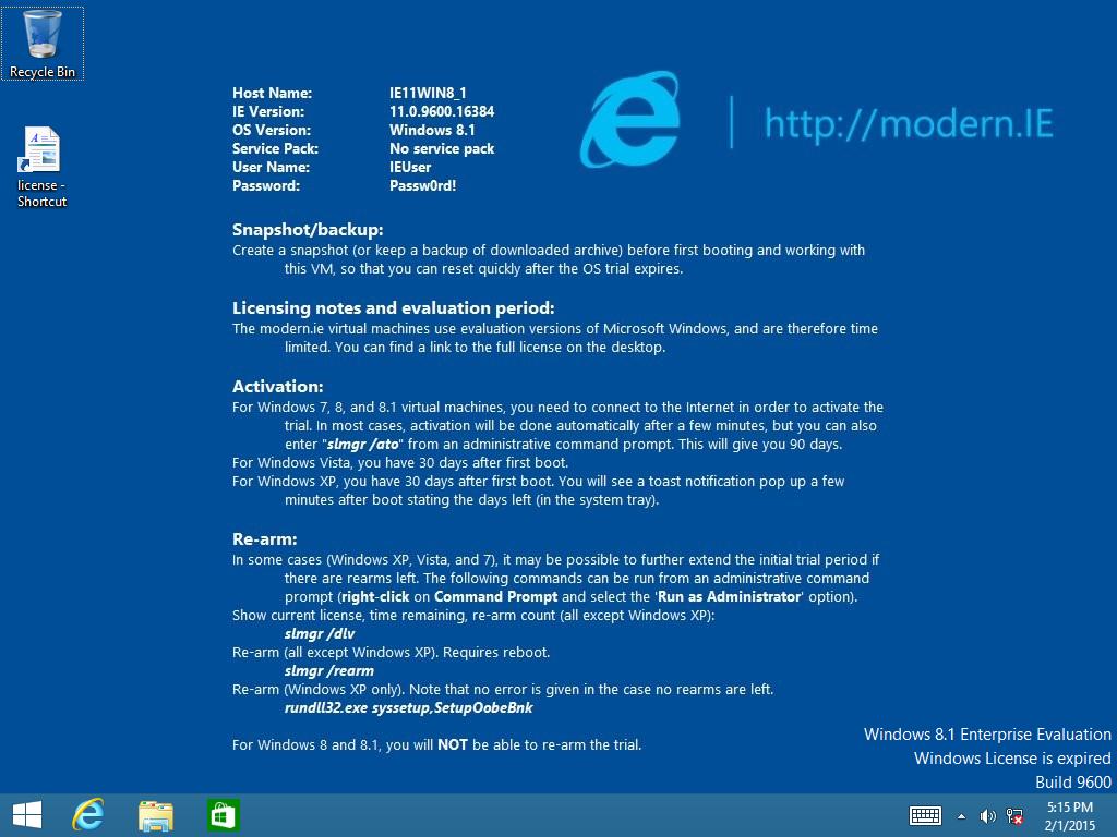 microsoft free windows 10 virtual machine