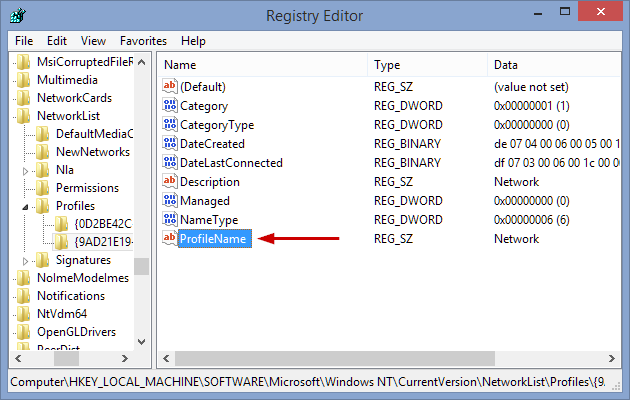 4 full How to change a networks name in Windows 8 or 10