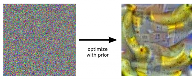 Tuning the parameters in DeepDream to generate a banana