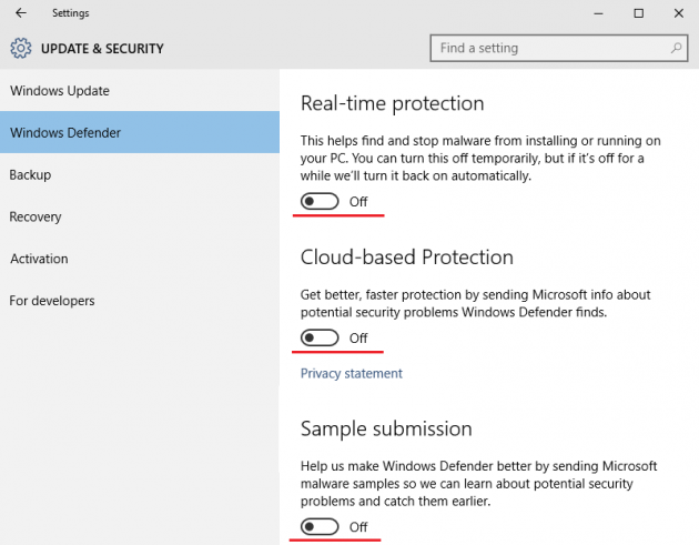 Disable Windows Defender Permanently in Windows 10 Screenshot 9