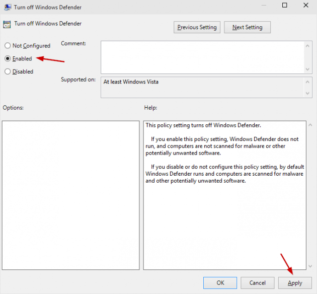 Disable Windows Defender Permanently in Windows 10 Screenshot 7