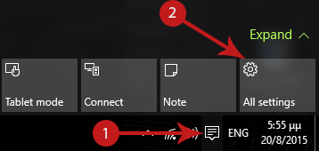 Customizing the Quick Action Buttons in the Action Center [Windows 10] Screenshot 1