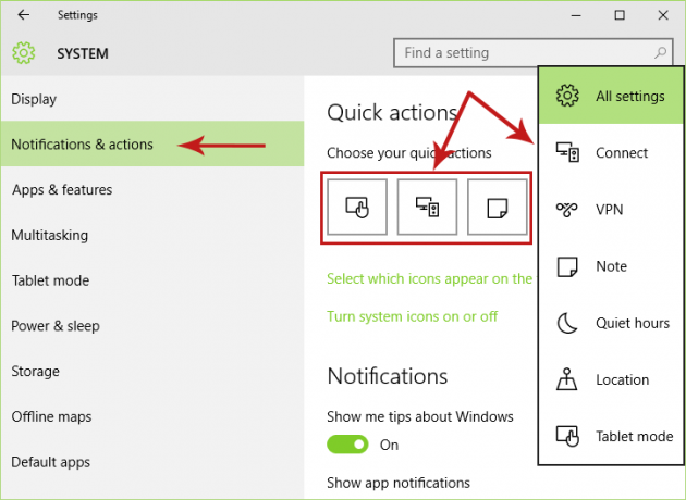 Customizing the Quick Action Buttons in the Action Center [Windows 10] Screenshot 3