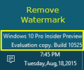 How to Remove the Evaluation Copy Watermark from Windows 10 Insider Builds (or 8, 8.1)