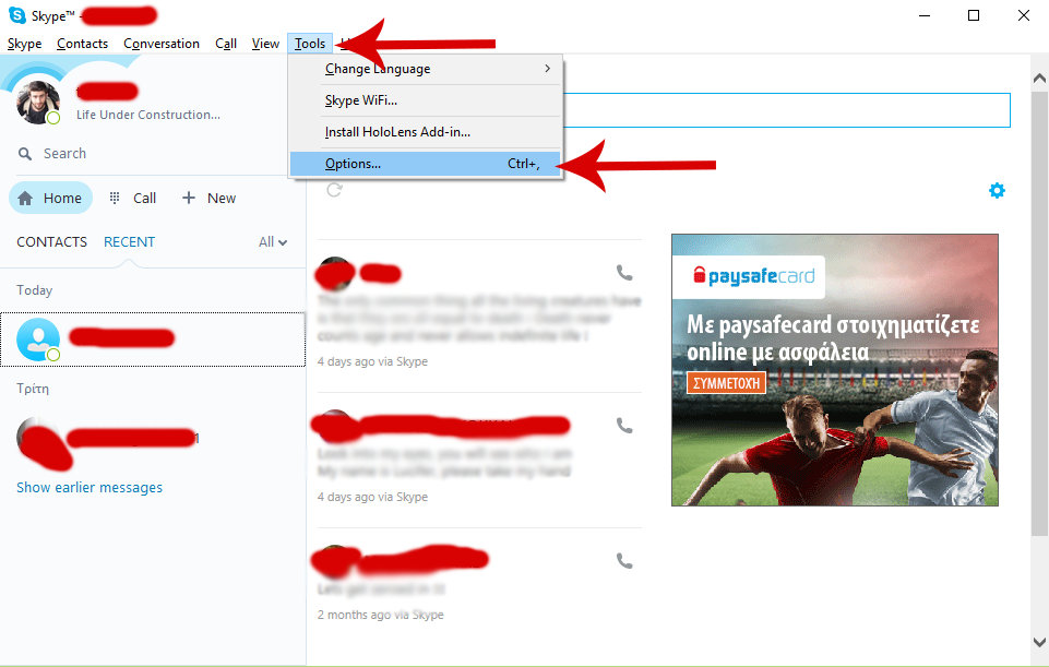 How To Change The Default Destination For Files You Receive In Skype