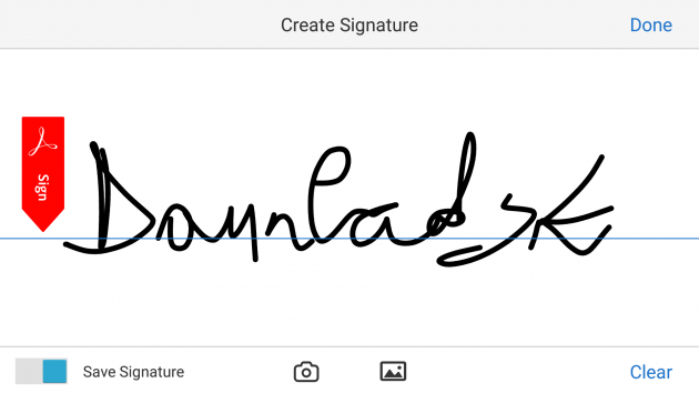 7 large How to add your signature on a PDF document using only your Android phone