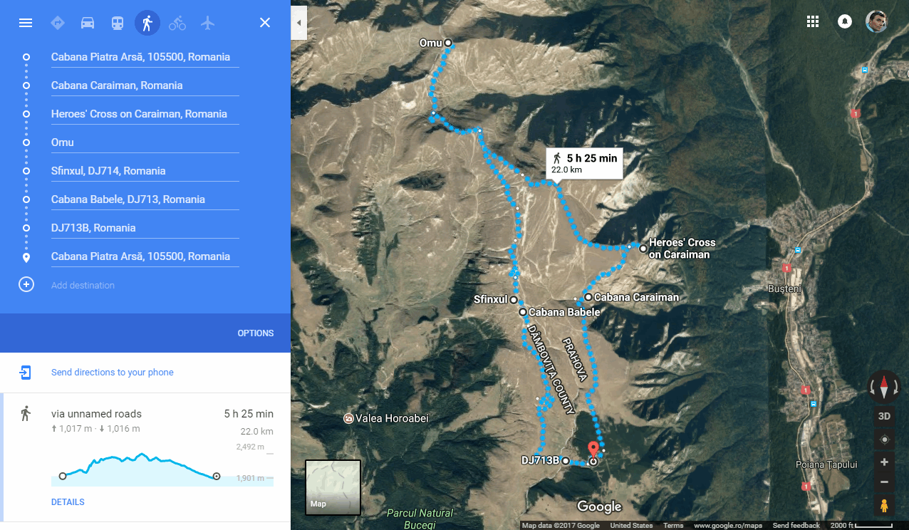 Image Result For Google Maps Elevation Profile Route