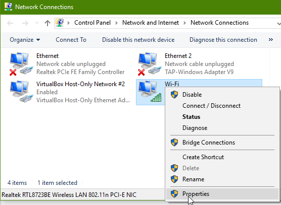 win 7 how to change dns