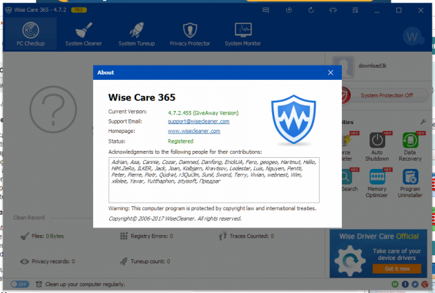 2 large Giveaway Wise Care 365 Pro Ended