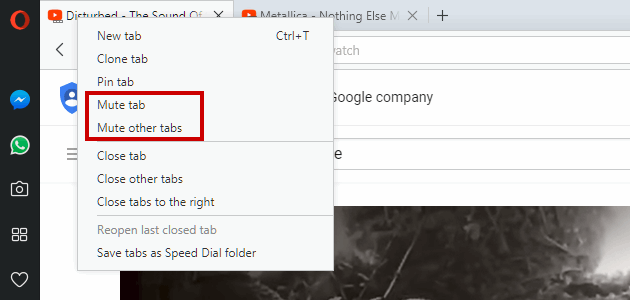 5 full How to mute audio in active or inactive tabs under Chrome Firefox Opera Edge Safari