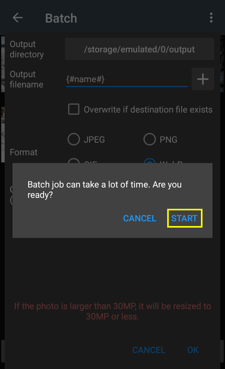 how to convert picture to jpg on android