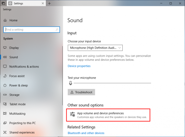 3 large How to assign applications to different sound outputs and inputs in Windows 10
