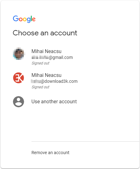 2 full How to change the default GoogleGmail account for users with multiple accounts Desktop