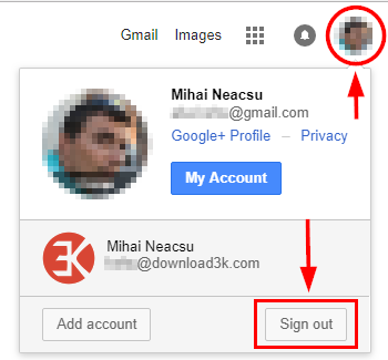 3 full How to change the default GoogleGmail account for users with multiple accounts Desktop