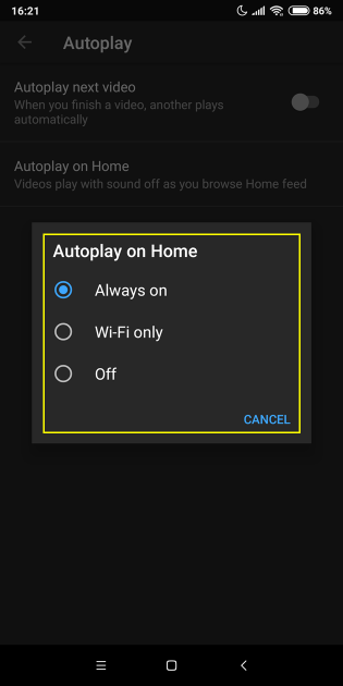 6 large How to turn off Autoplay on home tab feature or set it to WiFi only on YouTubes iOS  Android apps