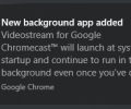 How to Remove 'New background app added' Notification when starting Google Chrome in Windows 10