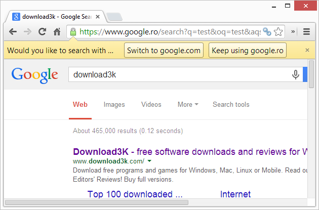 How to change Chrome's default search engine to Google com