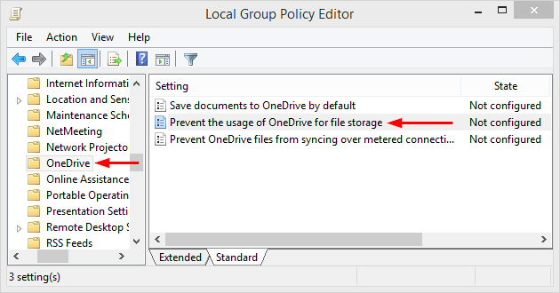 How to disable OneDrive in Windows 8 1, removing the