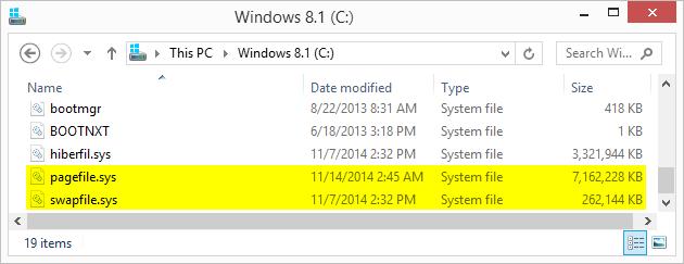 hiberfil.sys windows 8.1 too big
