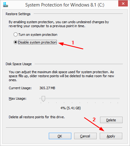 6 full What is System Protection in Windows 8 and how to enable or disable it