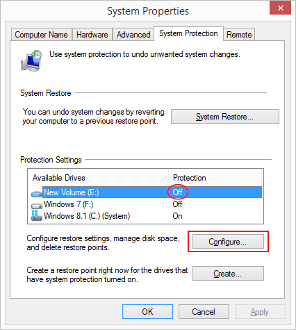 8 full What is System Protection in Windows 8 and how to enable or disable it