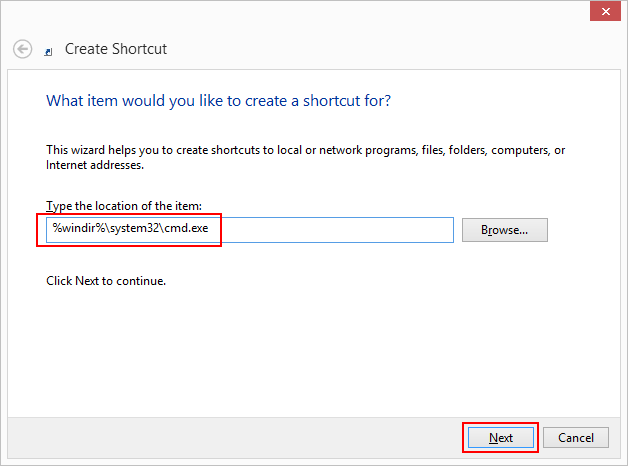 14 full How to create a desktop shortcut for the elevated command prompt or pin it to taskbar in Windows 8 10