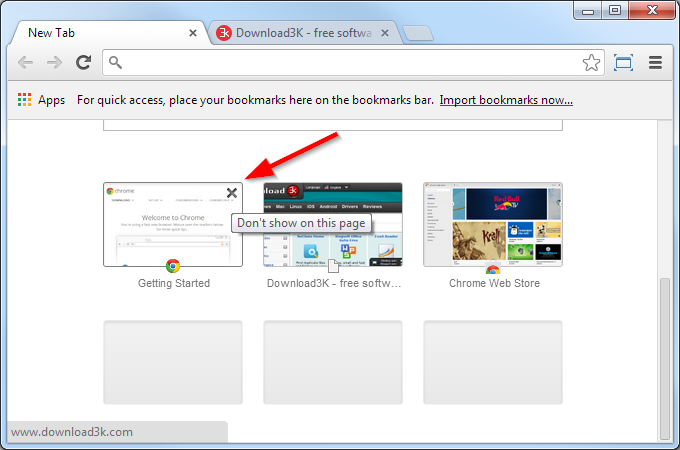 how to get rid of apps on chrome bookmark bar