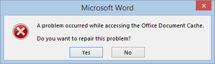 How to Fix Corrupted MS Office Cache