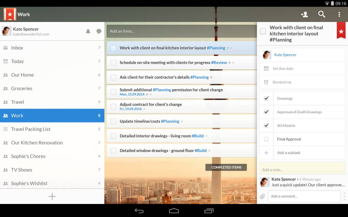 Wunderlist for Android Review