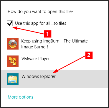 open iso file windows 10
