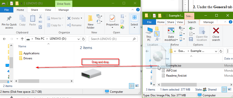 5 full How to Extract an ISO Disk Image File in Windows 8 and 10 using the BuiltIn Mount Option